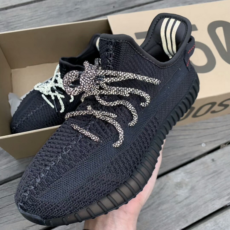 "Authentic Adidas Yeezy 350V2 Boost Black""Static"""