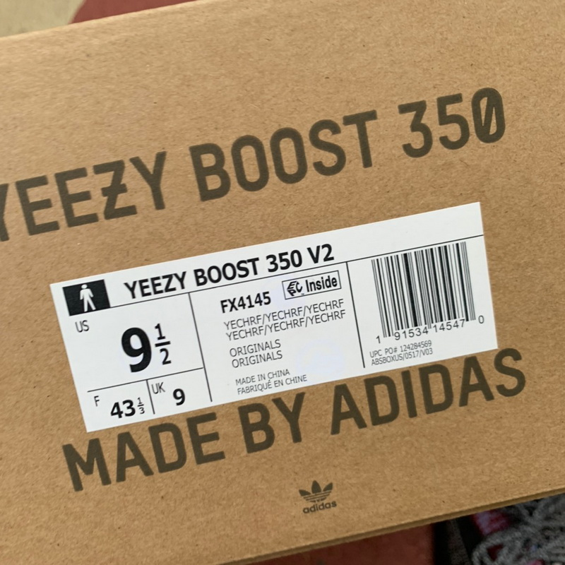 "Authentic Adidas Yeezy 350V2 Boost""Yecheil""GS"