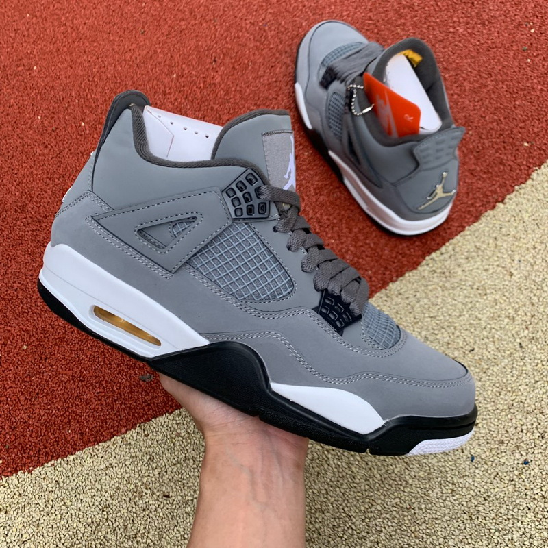 Authentic Air Jordan 4 Cool Grey