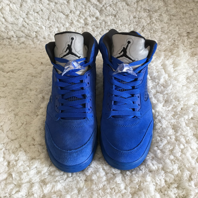 "Authentic Air Jordan 5 ""Blue Suede"""