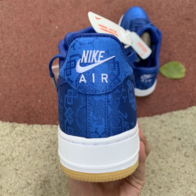Authentic CLOT x Nike Air Force 1 Low Blue