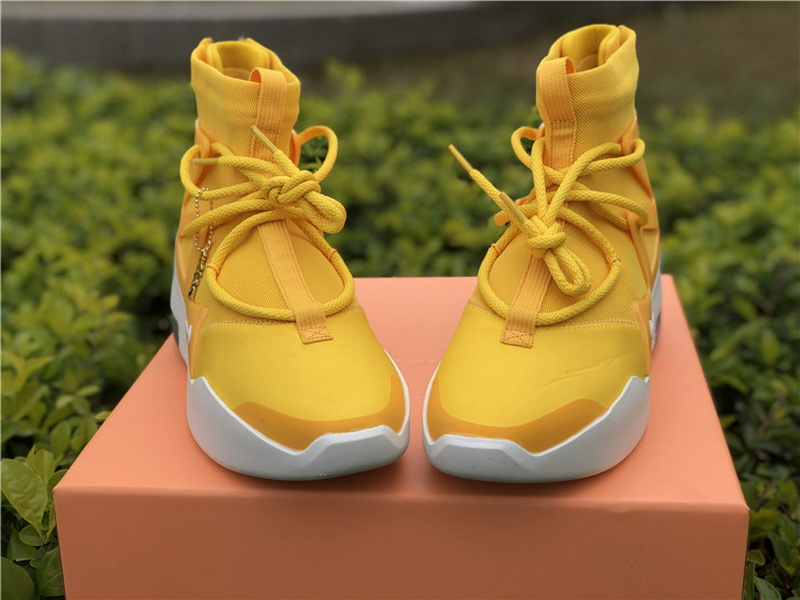 Authentic Nike Air Fear Of God 1 Yellow