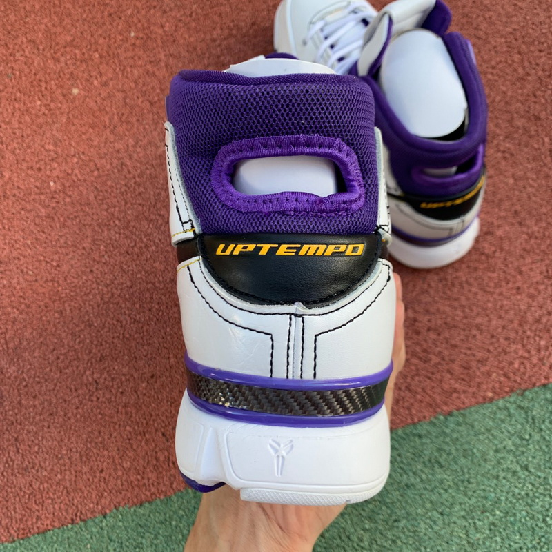 Authentic Nike Kobe 1 Protro Purlie White Purple