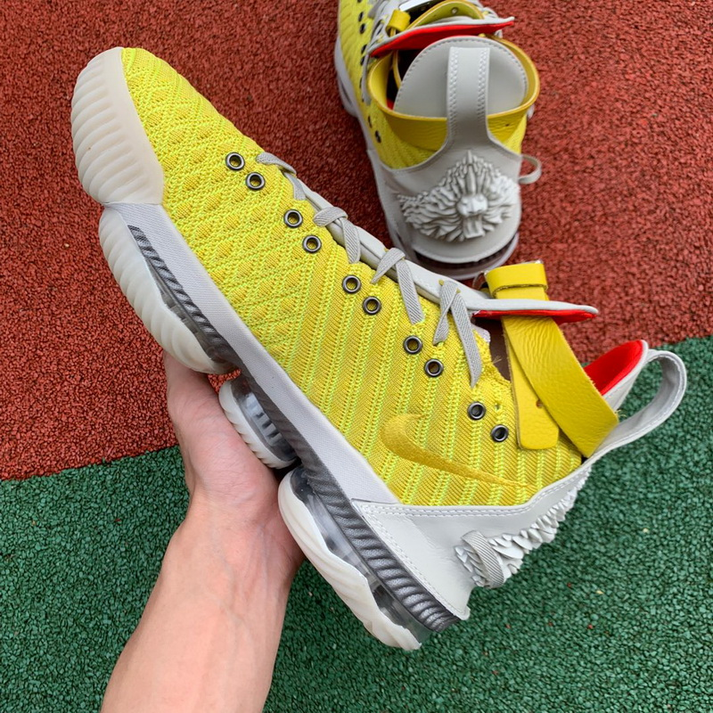 Authentic Nike LeBron 16 Yellow