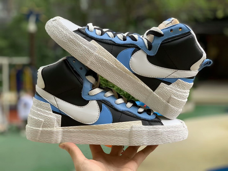 Authentic Sacai X Nike Blazer with Dunk blue