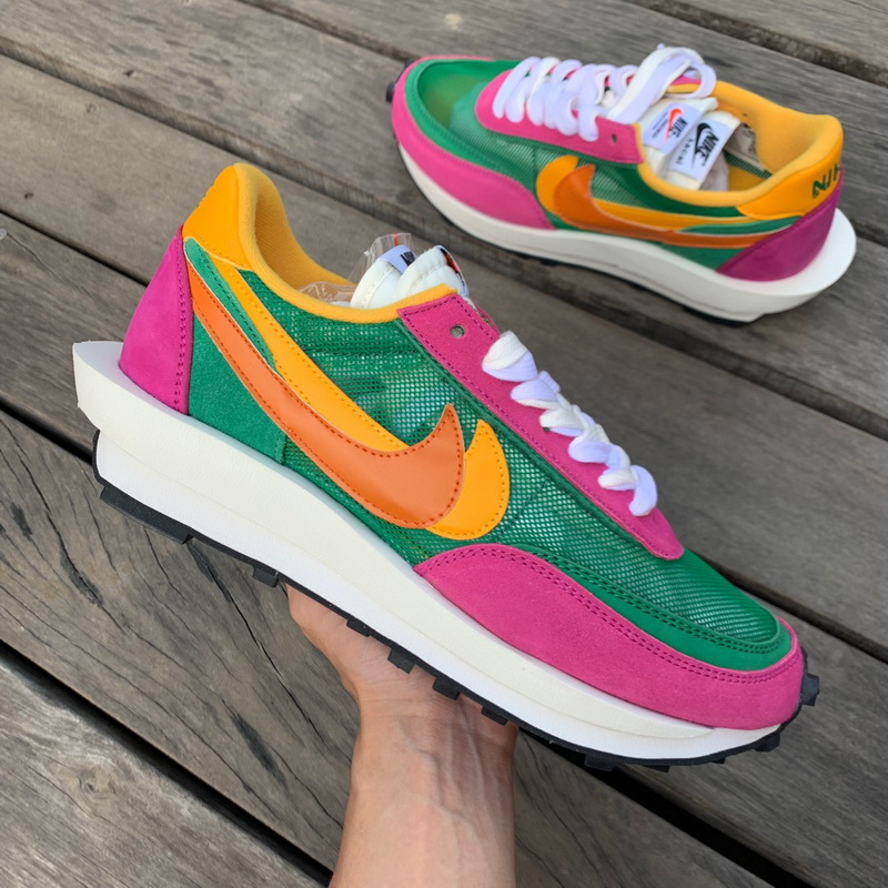 Authentic Sacai X Nike LVD WAFFLE Pink green