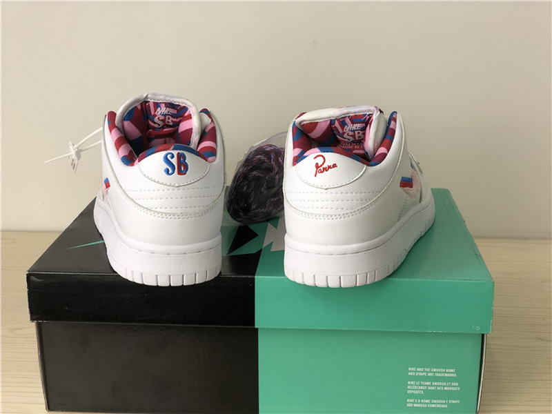 Authentic Nike SB Dunk Low x Parra White Women