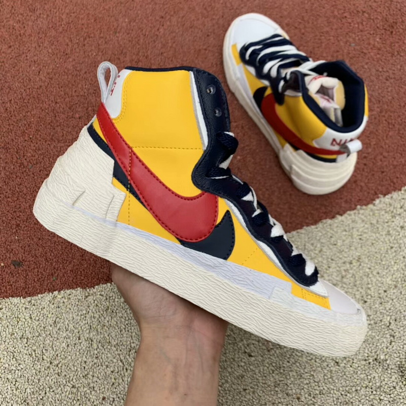 Authentic Sacai X Nike Blazer with Dunk yellow WOMEN