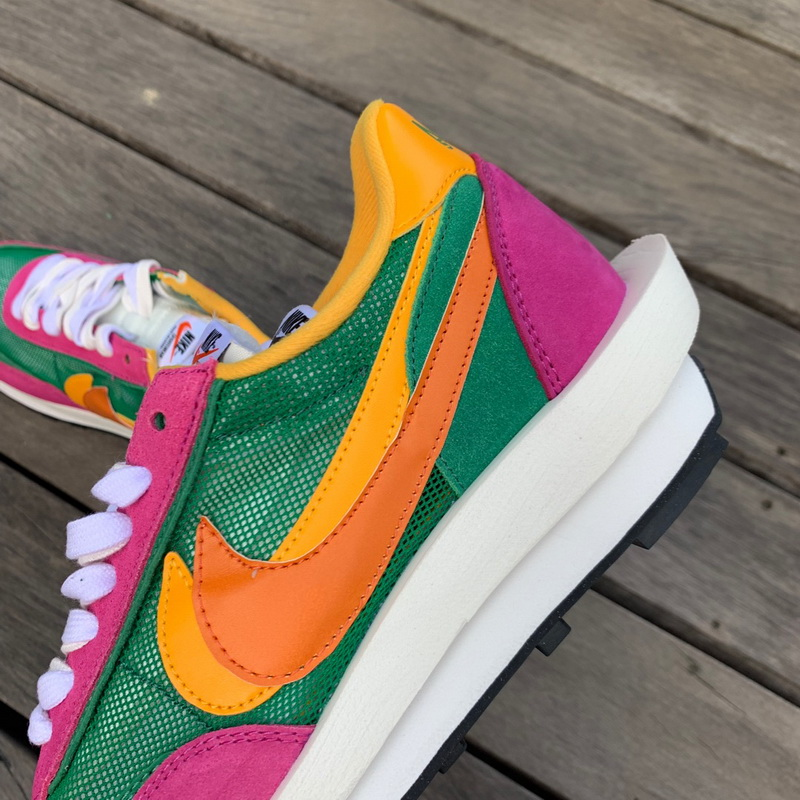 Authentic Sacai X Nike LVD WAFFLE Pink green WOMEN