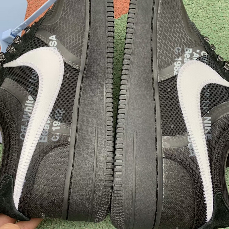 "Authentic OFF-WHITE X Air Force 1 Low""Black"""
