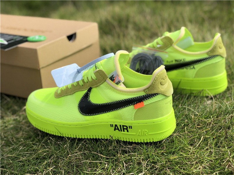 "Authentic OFF-WHITE x Nike Air Force 1""Volt"""