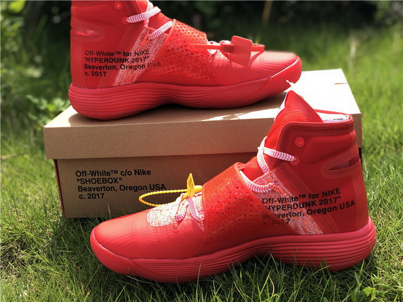 Authentic Off White X Nike Hyperdunk 2017 Red