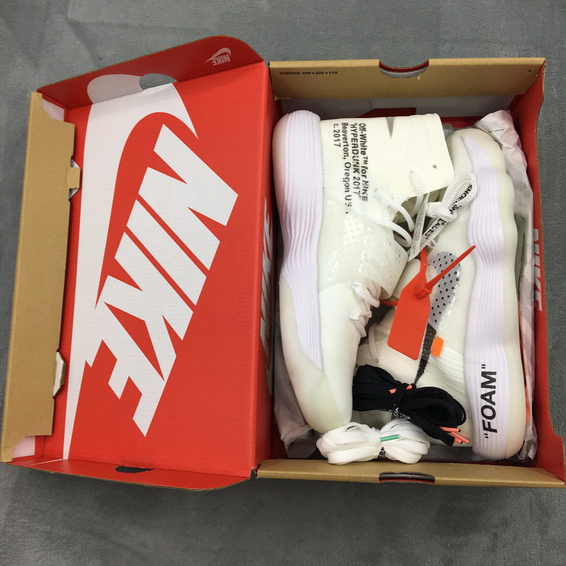Authentic Off White X Nike Hyperdunk 2017 white