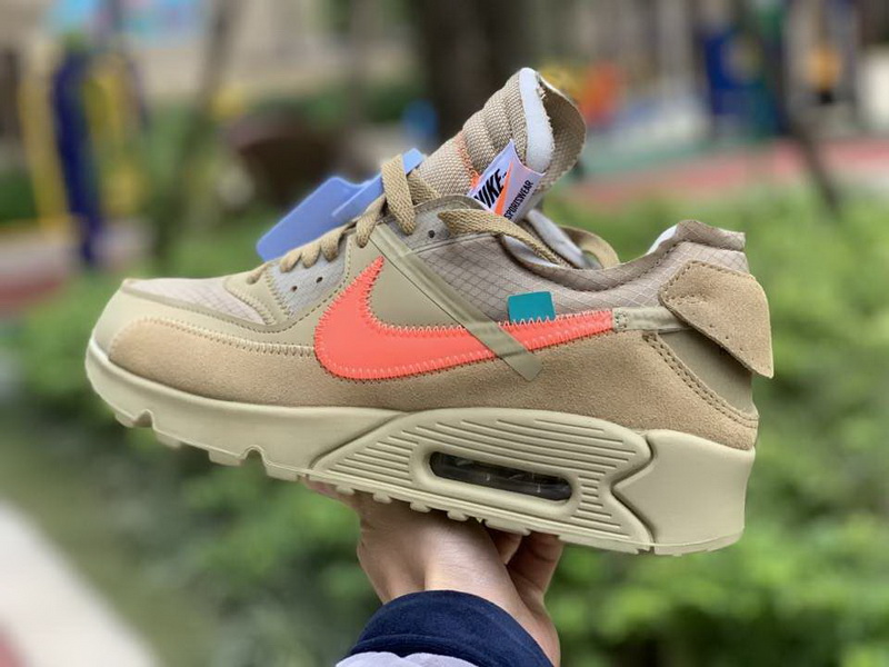Authentic off white X Nike Air Max 90 DESERT ORE